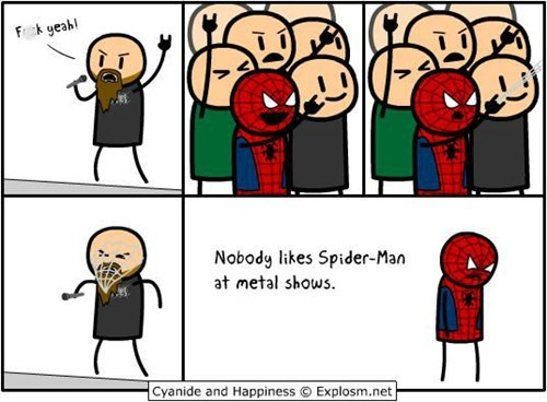 comic heavy metal Spider-Man