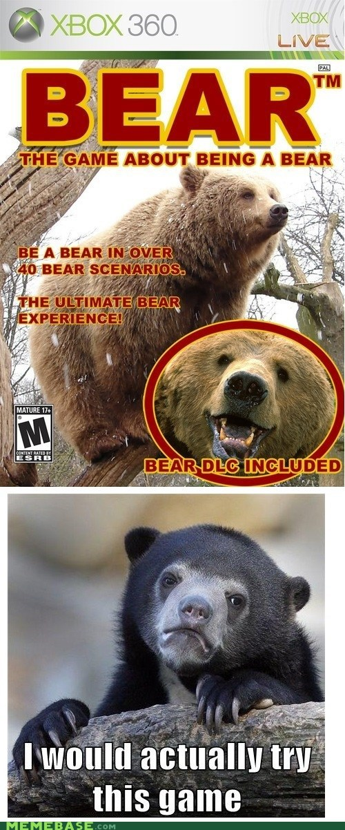 Confession Bear video games re-frames - 7041749248