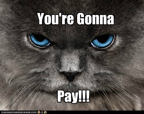 You're Gonna Pay!!!