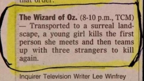 murder,wizard of oz,Movie,description
