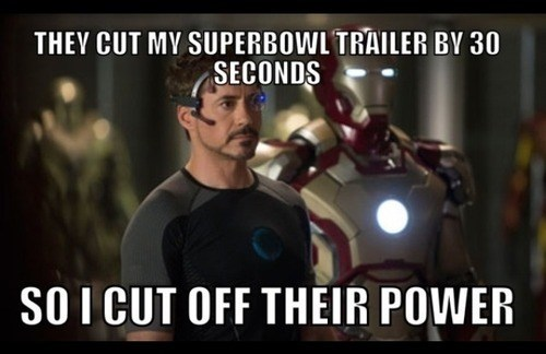 superbowl ad tony stark robert-downey-jr-trailer iron man iron man 3 power