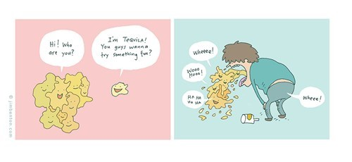 puking,jim benton,comics,tequila,too drunk