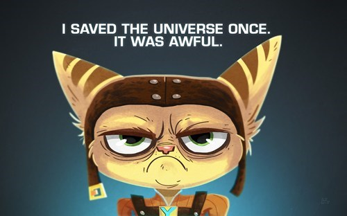 ratchet and clank art Memes Grumpy Cat - 7041975552
