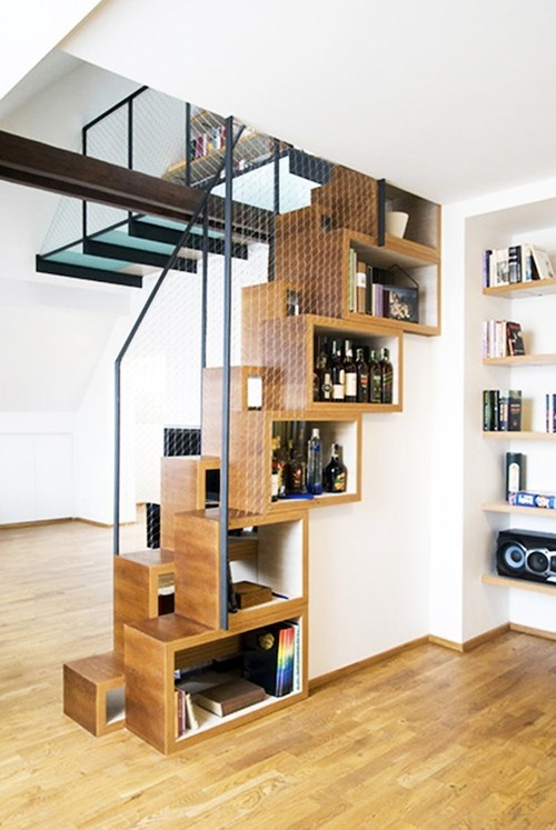 reading is sexy design stairs shelf - 7042002944