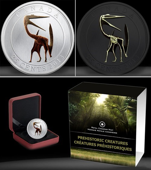 Canada coin glow in the dark nerdgasm dinosaurs currency g rated win - 7042009344