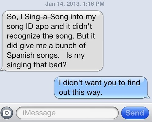 spanish,iPhones,find out eventually,singing
