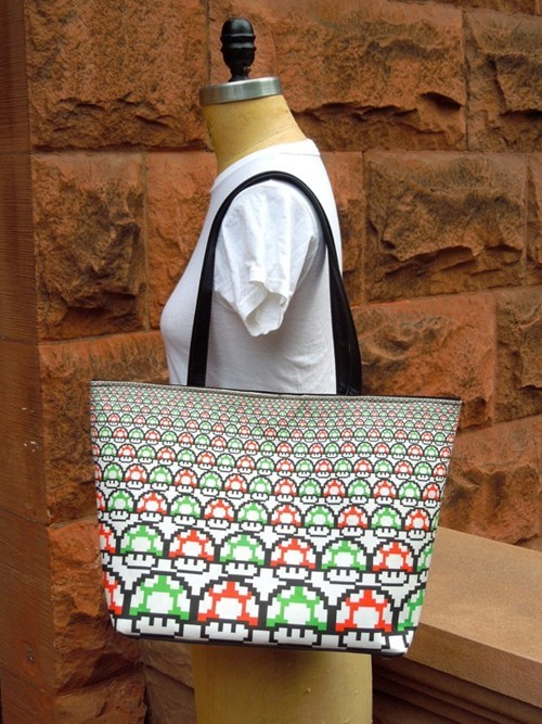 purse bag video game super mario brothers mario nintendo Mushrooms