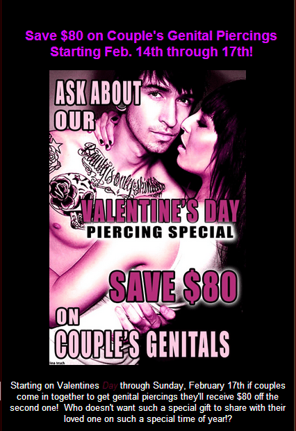 sale piercings Valentines day - 7042259968