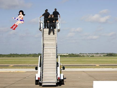 floating,wonder woman,invisible jet