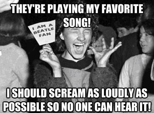 beatles scream fans girl - 7042278400