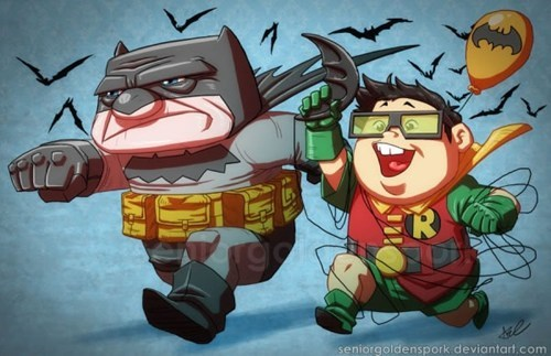 "Batman and Robin in the Style of ""Up"""