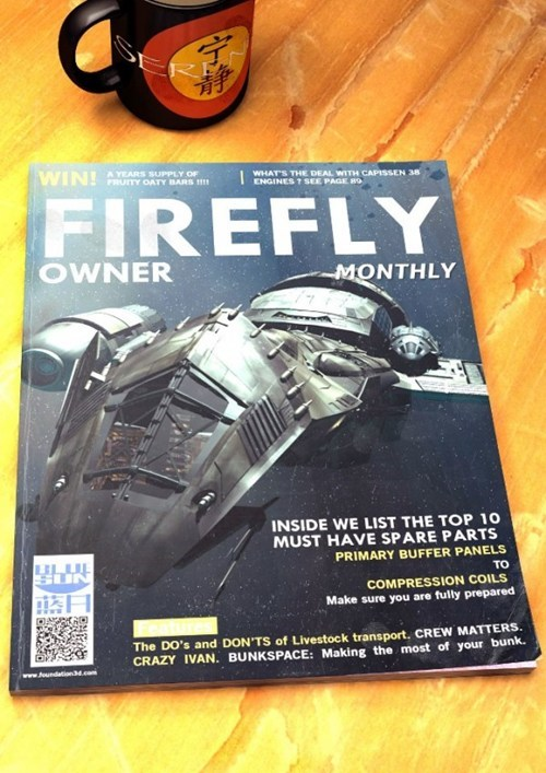 mock up owner Fan Art Firefly magazine - 7042348288