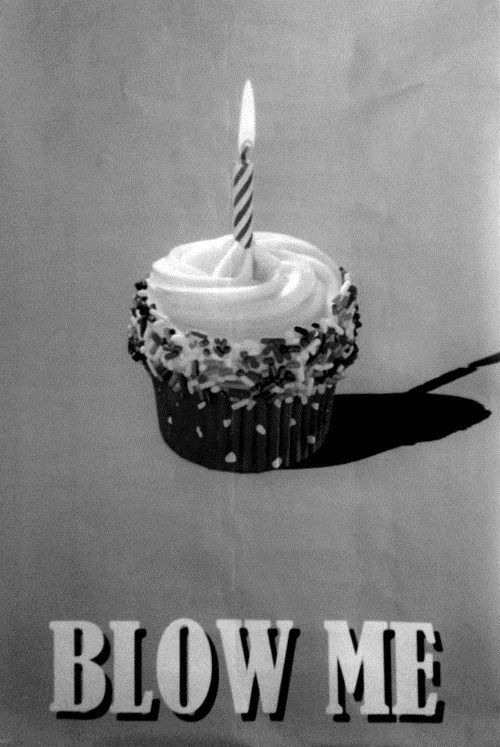blow me cupcake candle insult double meaning