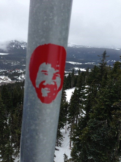 bob ross hacked irl ski lift skiing - 7042473728