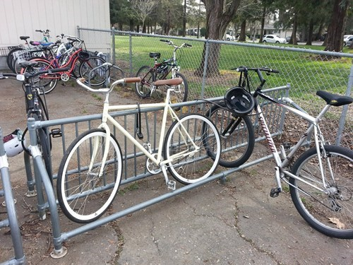 bike rack,jerk move,bike