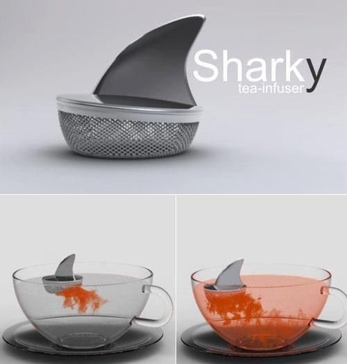 design,cute,tea,shark