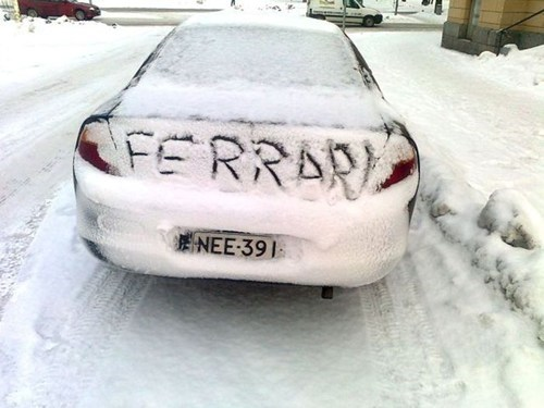 snow car ferrari winter - 7042478336