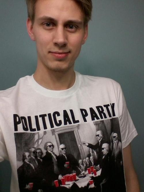political political party T.Shirt Party double meaning - 7042511616