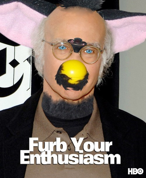 mashup,Curb Your Enthusiasm,creepy,furby,larry david