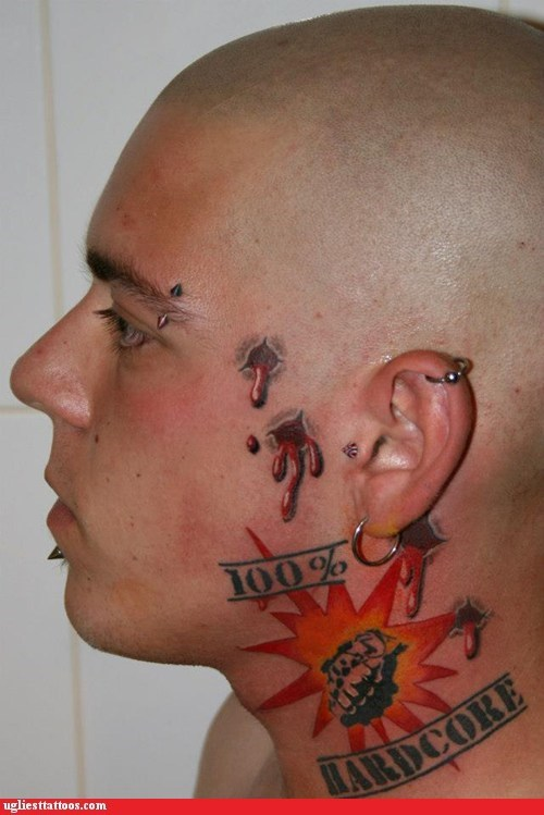 hardcore face tattoos piercings - 7042680832