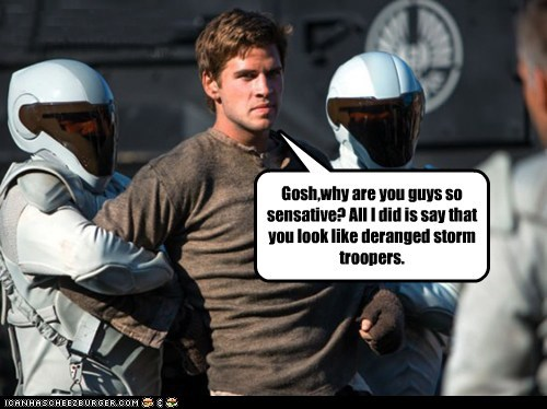 gale hawthorne liam hemsworth hunger games sensative stormtrooper - 7042763520
