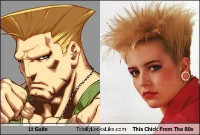 hair Street fighter TLL st guile girl 80s - 7042923776