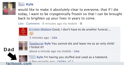 fathers,taxidermy,cryogenics,fathers day,failbook