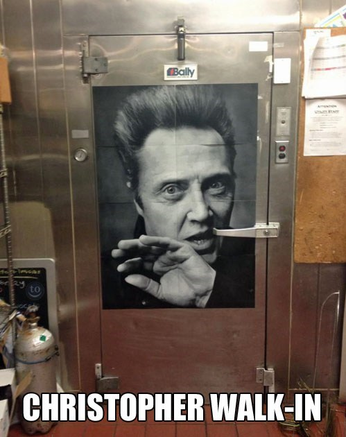 puns,walk in freezer,chistopher walken