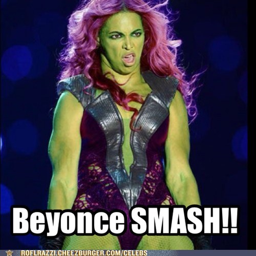 super bowl beyoncé smash The Avengers halftime hulk - 7044353536