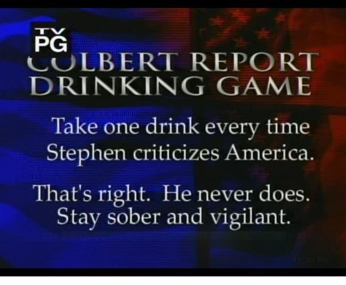 sober,colbert,vigilant,america,drinking games