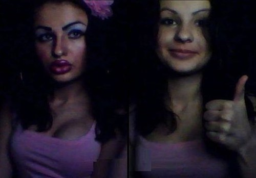 makeup,Before And After,duckface