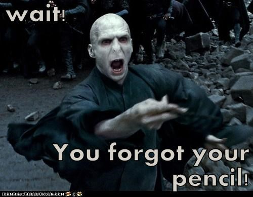 wait pencil Harry Potter voldemort ralph fiennes forgot