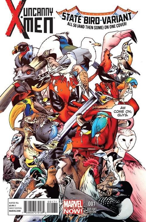 wtf,varient cover,birds,deadpool