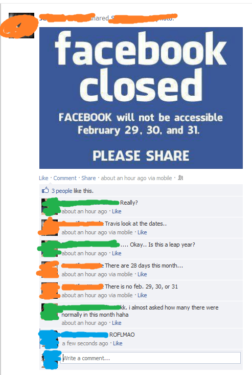 leap year facebook is closed leap day failbook g rated - 7045810176