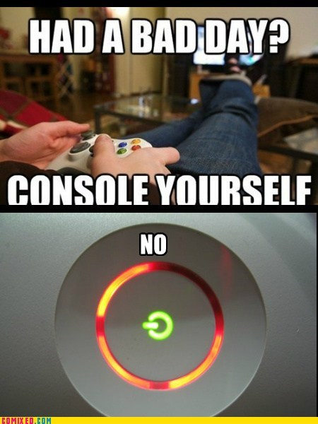 red ring of death,console,bad day,xbox