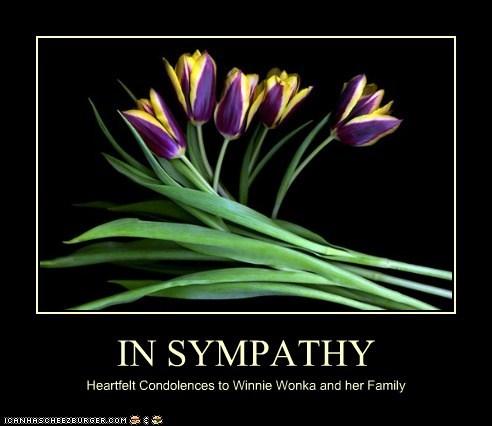 IN SYMPATHY Heartfelt Condolences to Winnie Wonka and her Family