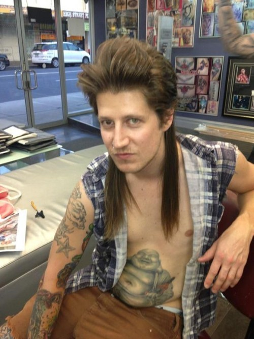 belly tattoos Joe Dirt - 7046982144