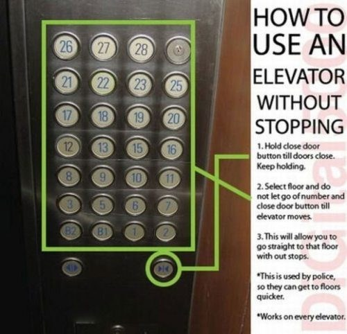 elevator,life hacks,stopping,monday thru friday,g rated