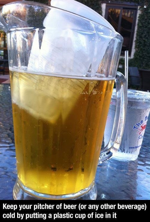pitchers beer alcohol lifehacks ice brilliant - 7047148288