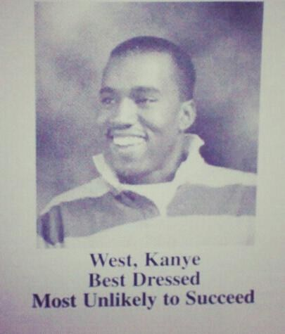 Music,yearbook,kanye west,high school,funny
