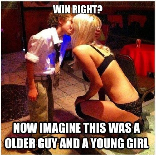strippers,age gap,double standards