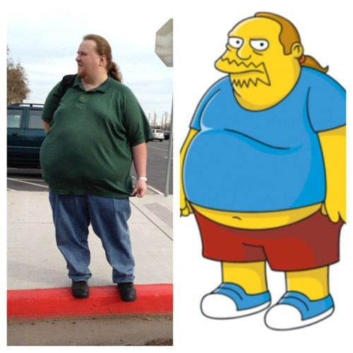 look alikes the simpsons comic book guy