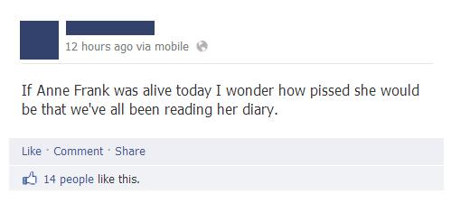 dairy,facebook,anne frank