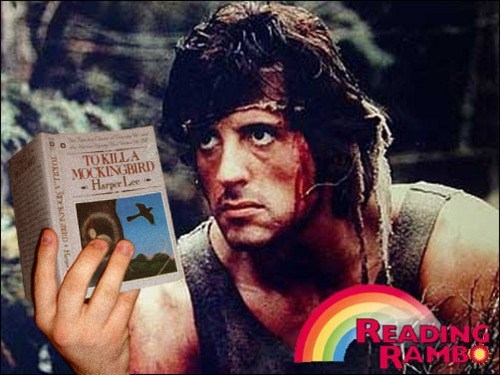 rambo,books,reading rainbow,g rated,School of FAIL