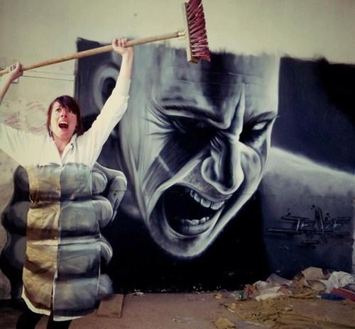 Street Art design graffiti hacked irl illusion - 7047502336
