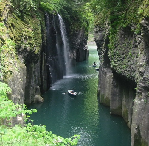 river,gorge,Japan,landscape