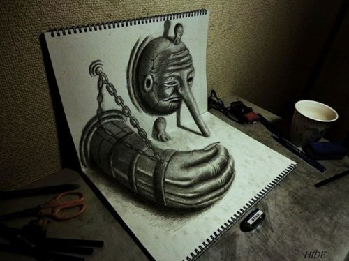 art,sketch,illusion
