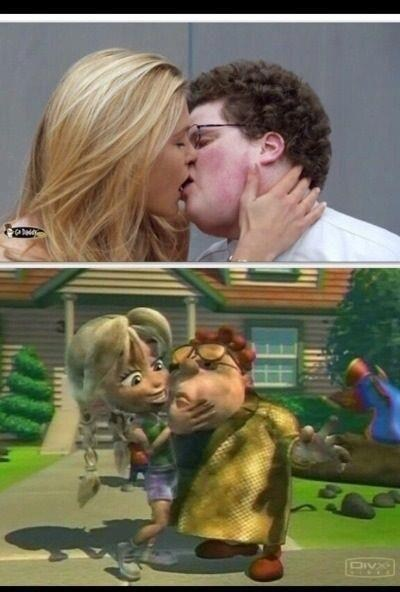 jimmy neutron,called it,kissing,commercials