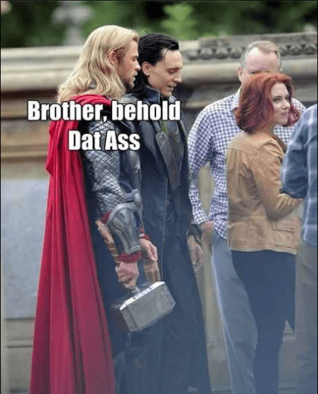 loki Thor scarlett johansson tom hiddleston The Avengers Black Widow dat ass chris hemsworth - 7047824896