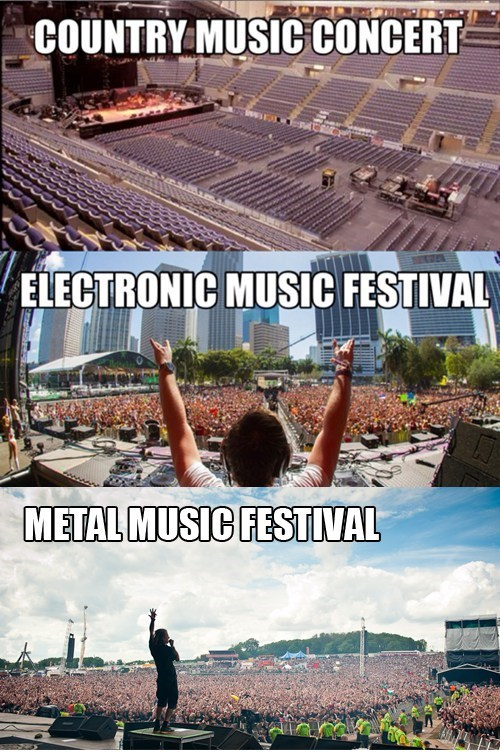 concerts,electronic music,country music,heavy metal